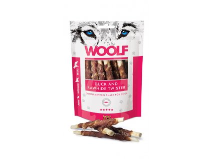 woolf snacks duck rawhide twister 100 g
