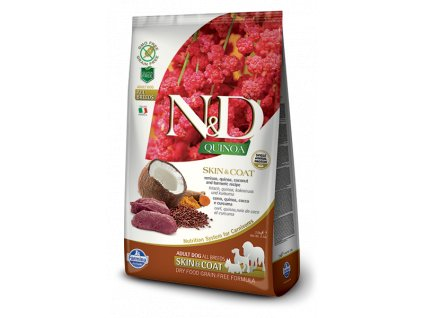 farmina n d gf quinoa skin coat venison