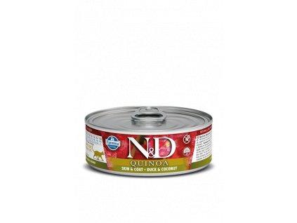 farmina n d cat quinoa duck coconut konzerva 80 g