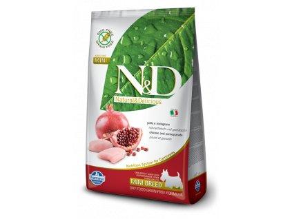 farmina n d grain free dog adult mini chicken pomegranate 2 5 kg