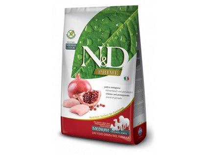 farmina n d grain free dog adult medium chicken pomegranate 2 5 kg