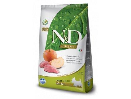 farmina n d grain free dog adult mini boar apple