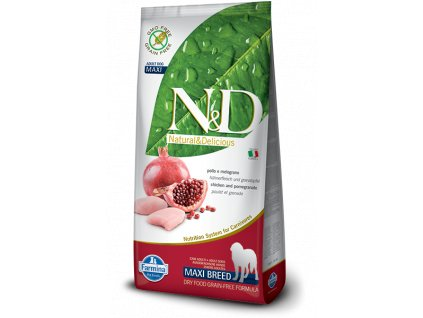 farmina n d grain free dog adult maxi chicken pomegranate