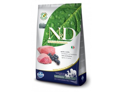farmina n d grain free dog adult medium lamb blueberry
