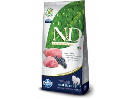 farmina n d grain free dog adult maxi lamb blueberry 12 kg