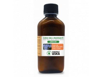 lanovy olej s vitaminom e 200 ml