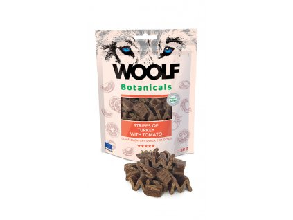 woolf dog botanicals turkey stripes with tomato 80 g