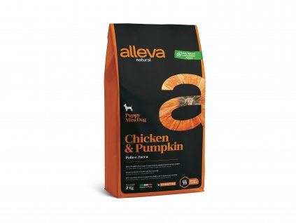 alleva natural dog chicken pumpkin puppy mini 2 kg