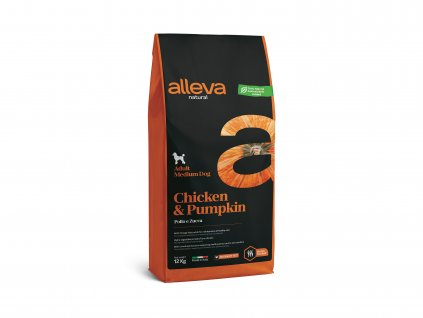 alleva natural dog chicken pumpkin adult medium 12 kg