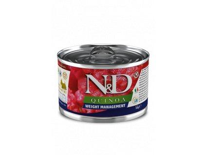 farmina n d dog quinoa weight management konzerva 140 g