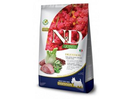 farmina n d dog quinoa gf adult mini digestion lamb 2 5 kg