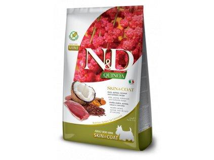 farmina n d dog quinoa gf adult mini skin coat duck coconut 2 5 kg