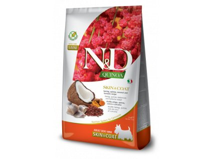 farmina n d dog quinoa gf adult mini skin coat herring coconut 2 5 kg