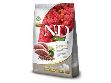 farmina n d dog quinoa gf adult medium maxi neutered duck broccoli asparagus 2 5 kg