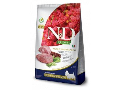 farmina n d dog quinoa gf adult mini weight managment lamb 2 5 kg