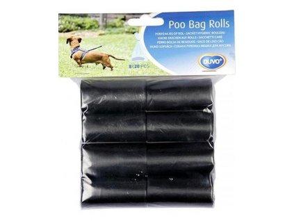 sacky duvo na zber psich vykalov cierne 8 x 20 ks