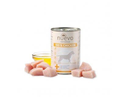 nuevo dog sensitive 100 chicken 400 g konzerva