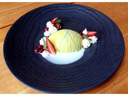 Velikonoční vejce s meruňkovým žloutkem / pistáciový mousse s bílou čokoládou