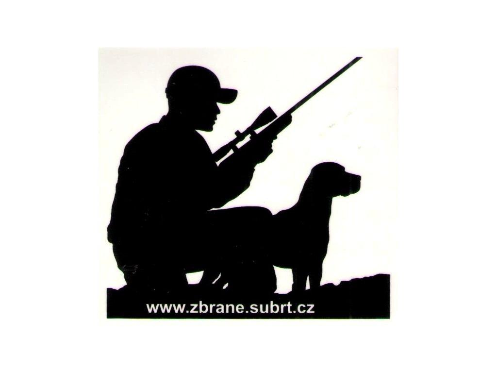 Samolepka Lovec se psem