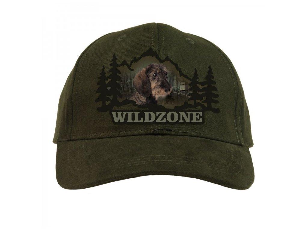 Wildzone kšiltovka Jezevčík zelená