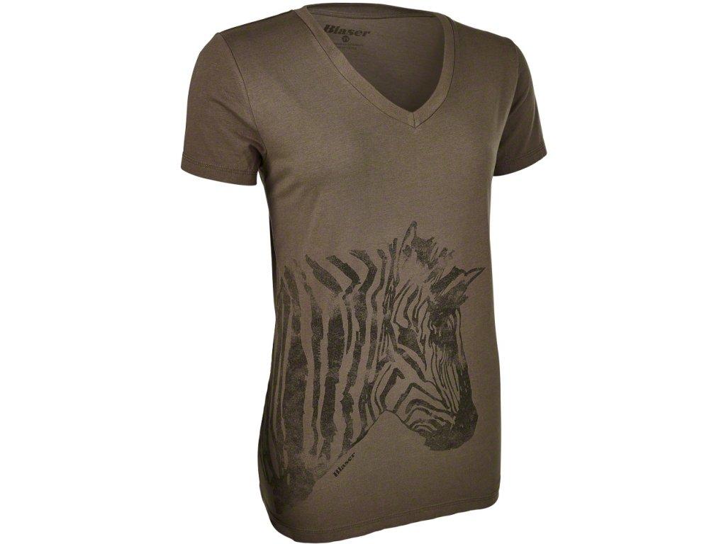 Triko Zebra olivové dámské
