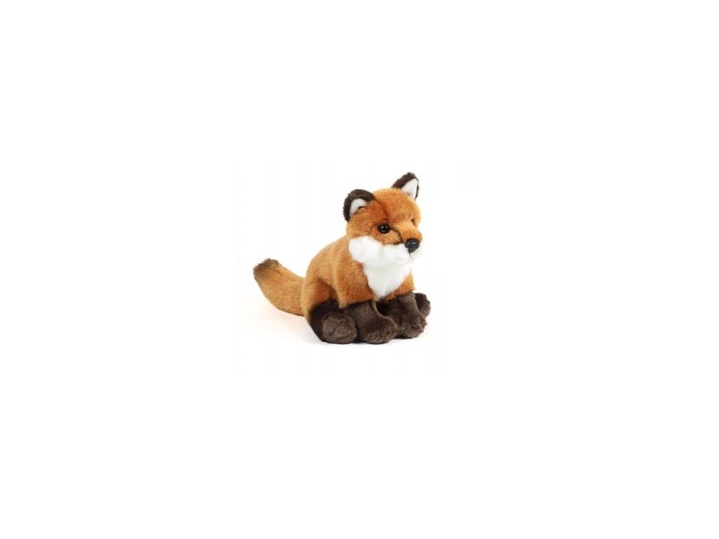 plyšák liška sedící malá