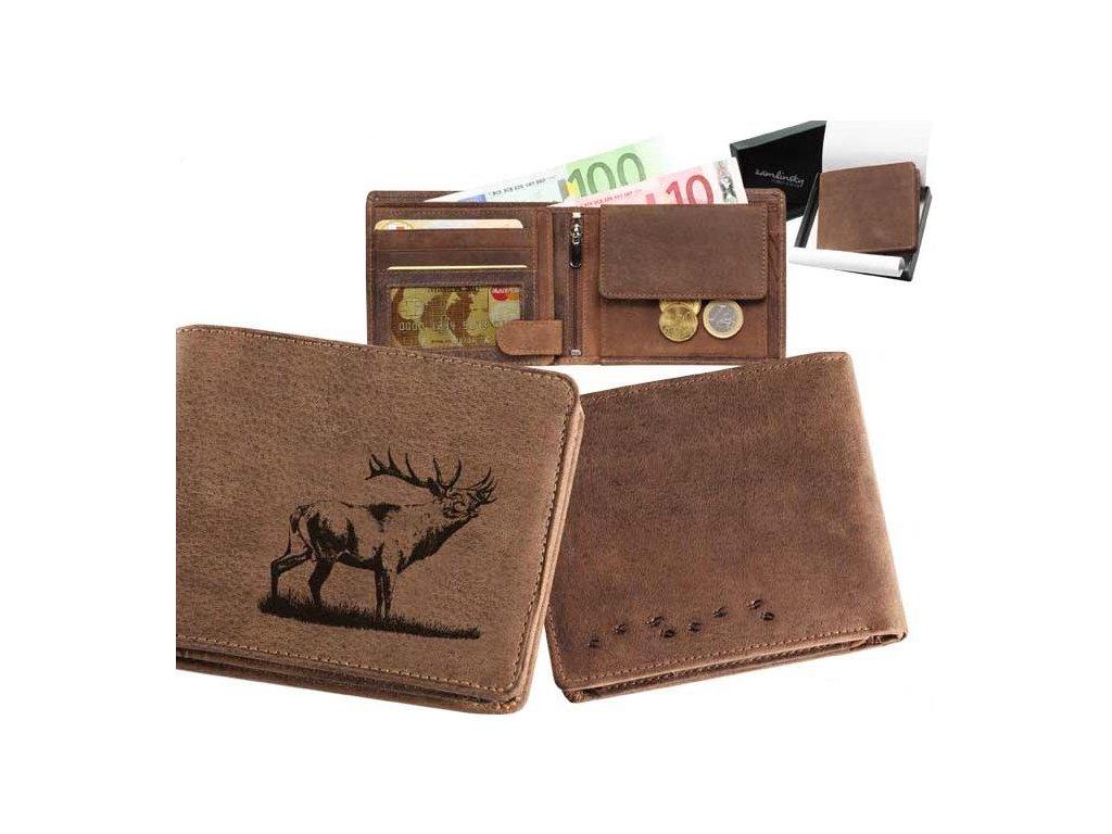 Kožená peněženka šířka Jelen14