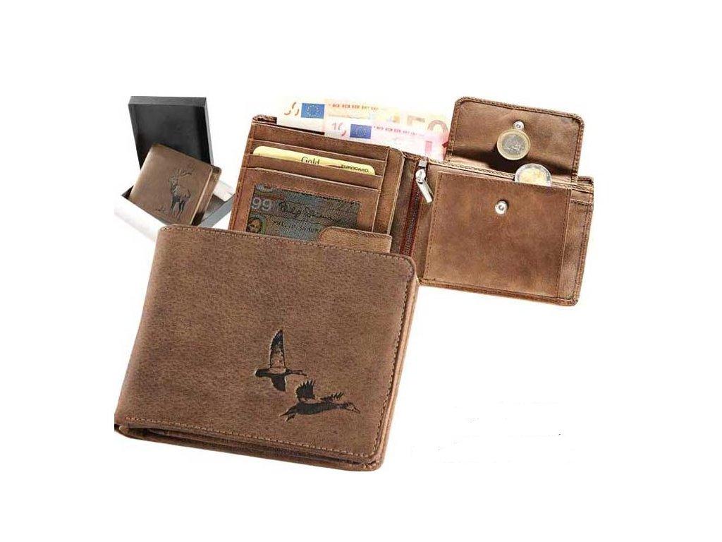 Kožená peněženka šířka Kachny