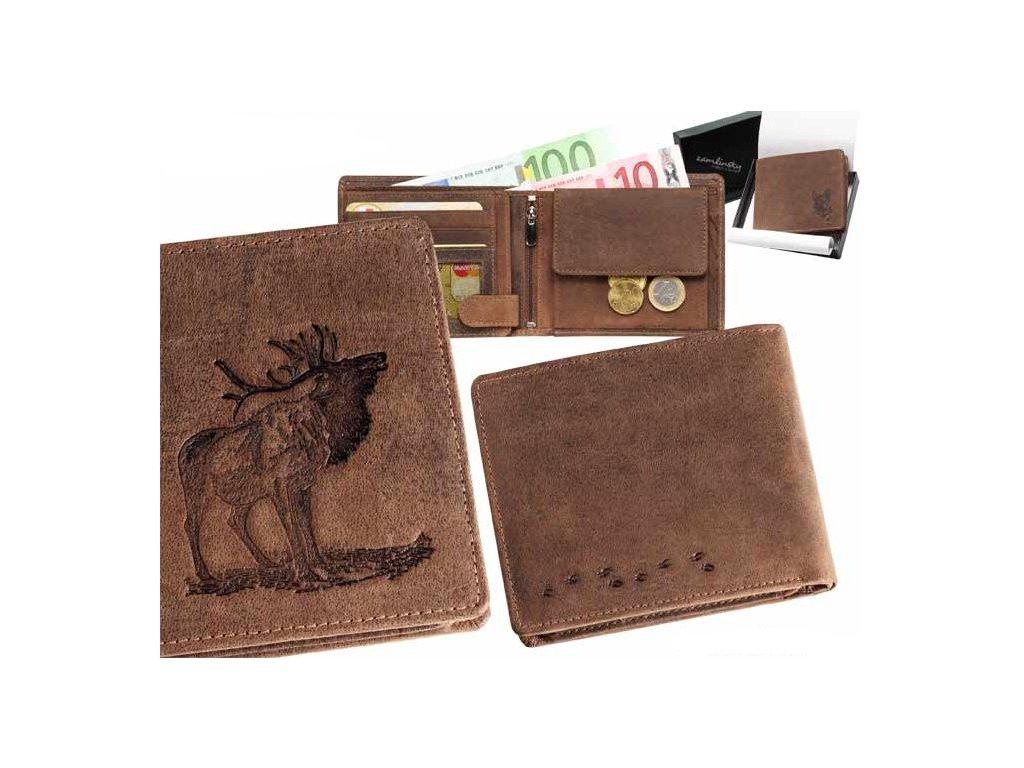 Kožená peněženka šířka Jelen07