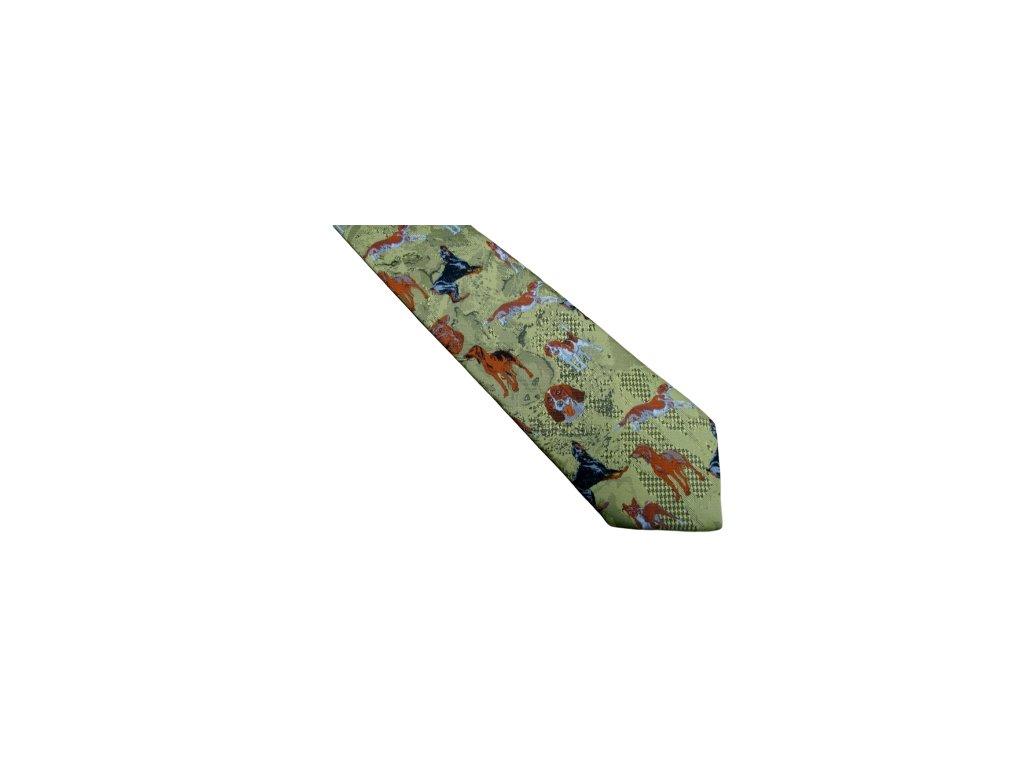 kravata Hedva motiv Psi č.35