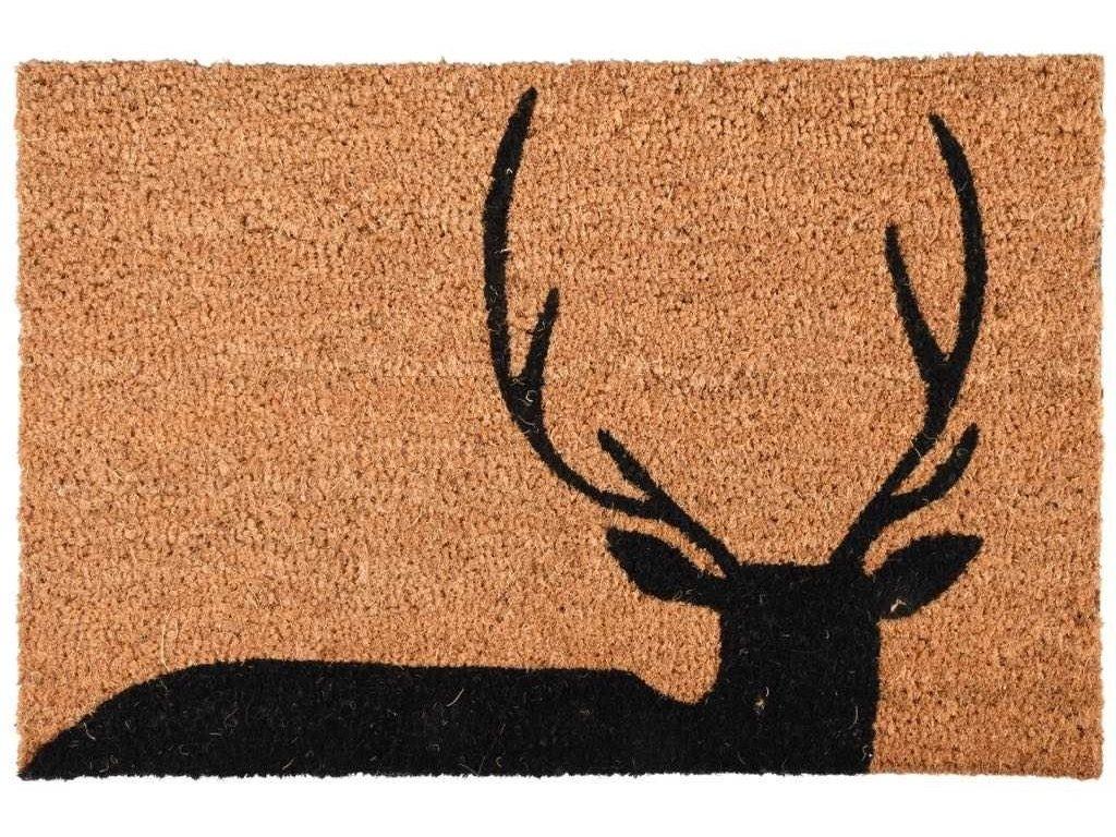 Rohožka s parožím jelena