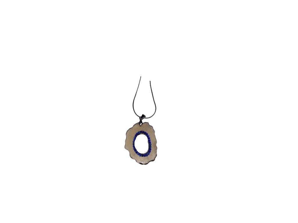 Náhrdelník kroužek jelení s kamínky Meridian Blue