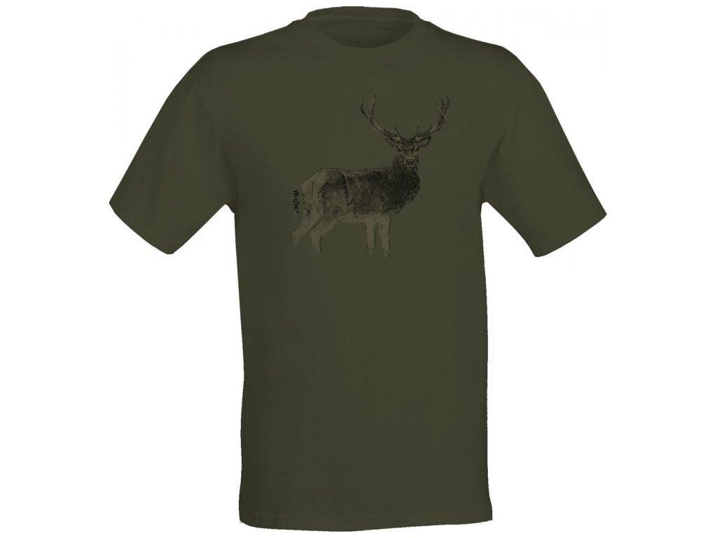 WildZone triko zelené jelen