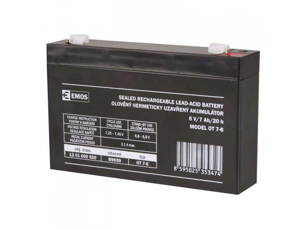 Baterie 6V 7Ah k fotopastem