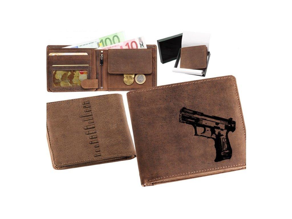 Kožené peněženka šířka Walter