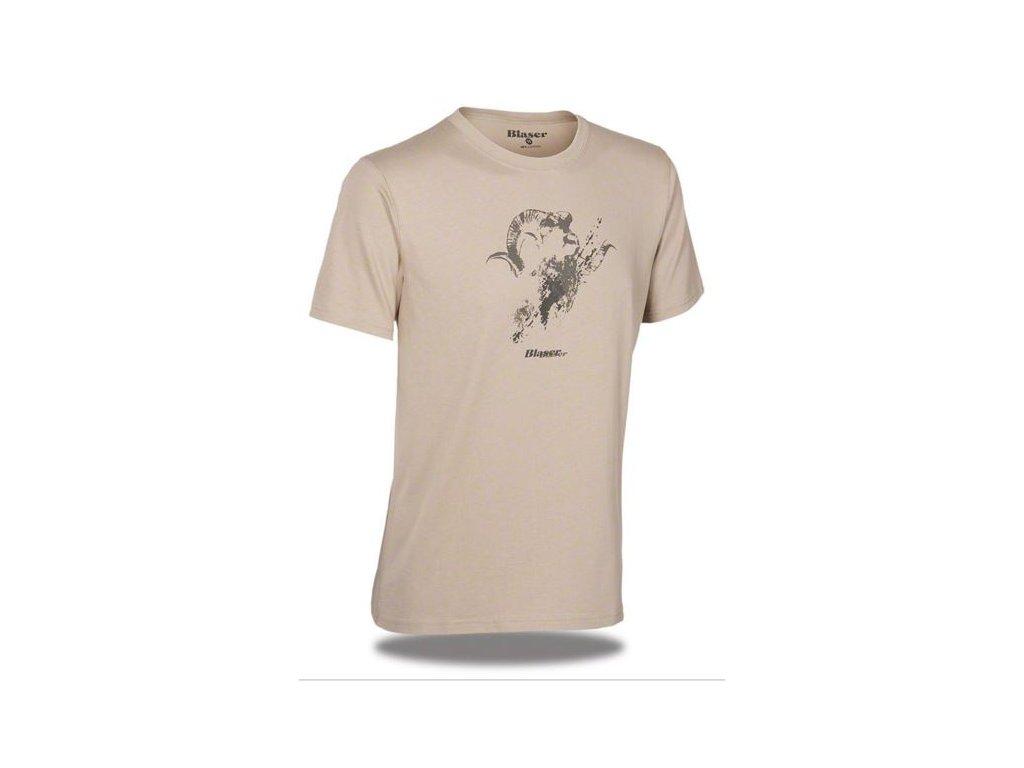 Blaser triko s logem pískové
