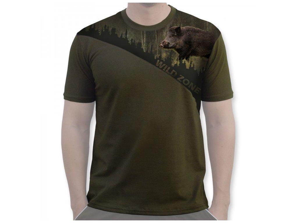 Wildzone triko divočák zelené