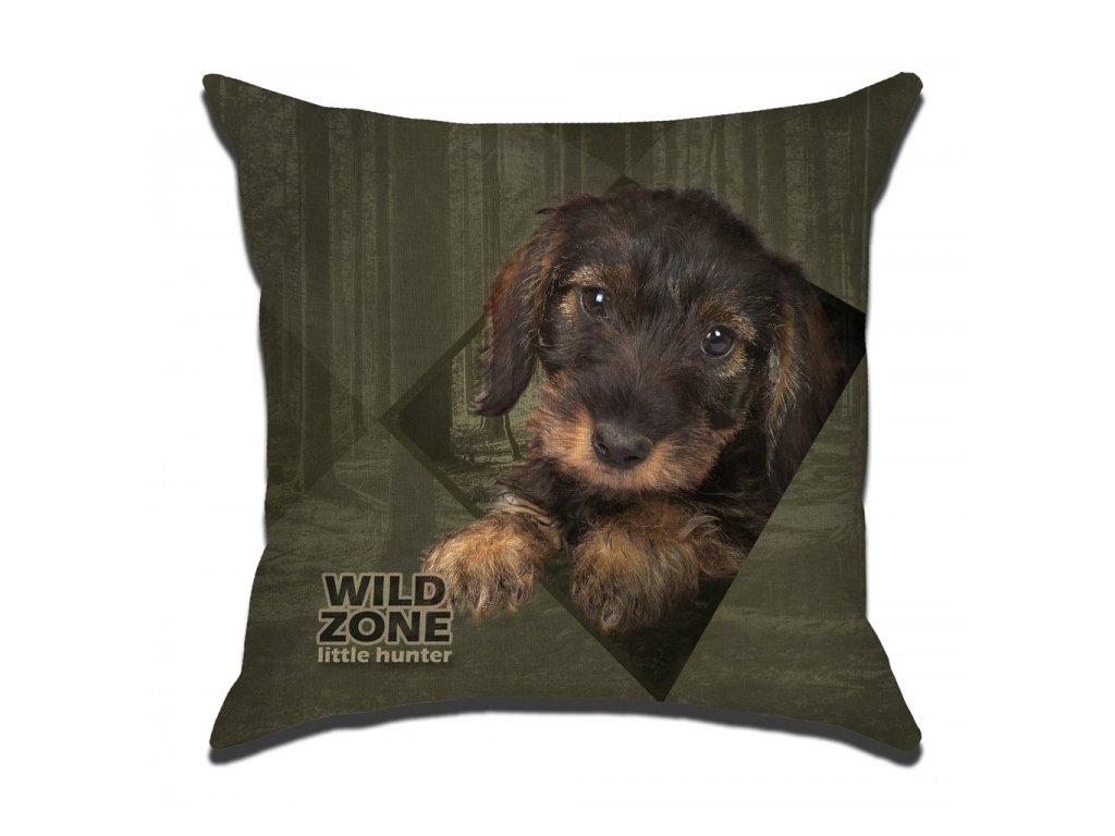 Wildzone polštář čtvercový štěně jezevčík