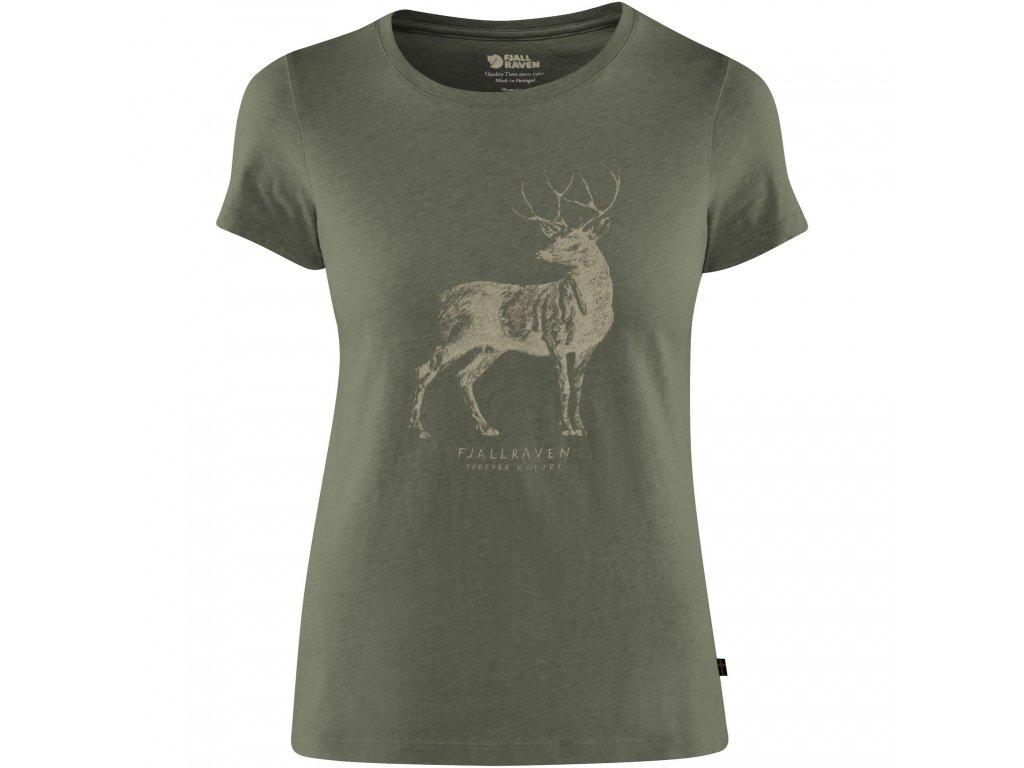 Fjällräven Triko Deer Print dámské
