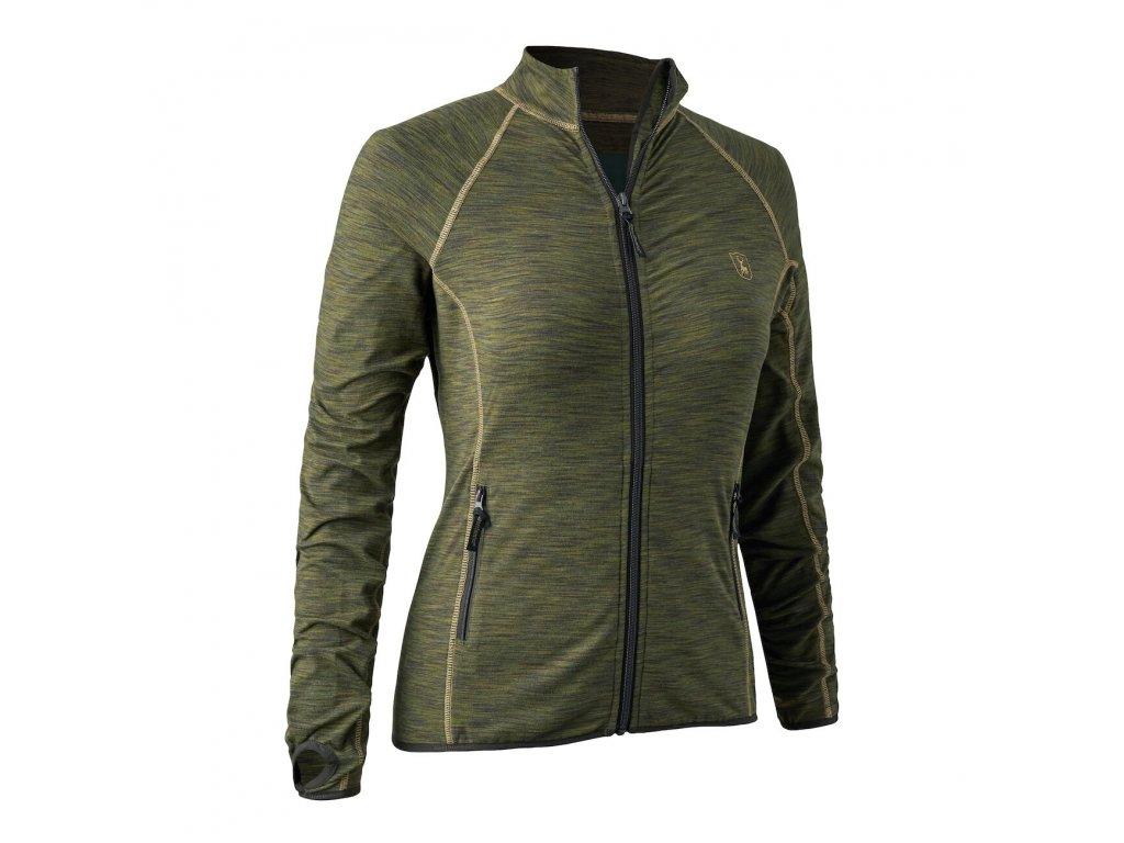 Deerhunter mikina dámská Lady Insulated fleece zelená