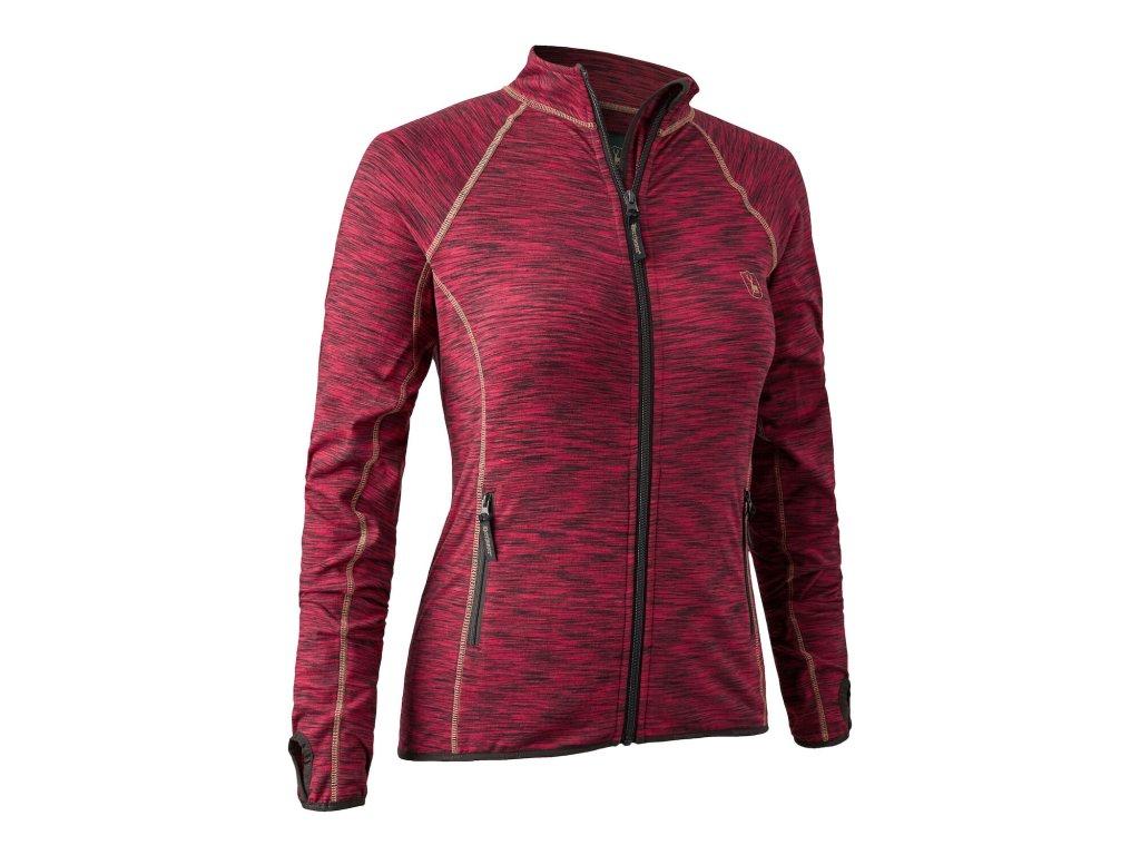 Deerhunter mikina dámská Lady Insulated fleece červená