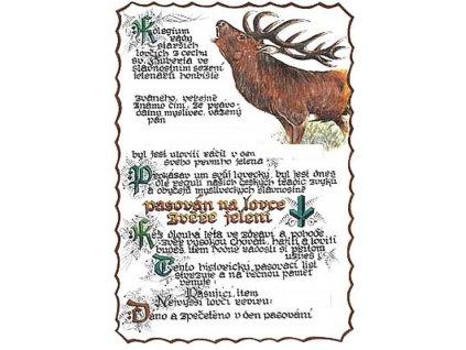 Pasovací list na lovce jelenů