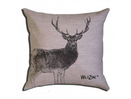Polštář hnědý jelen WildZone