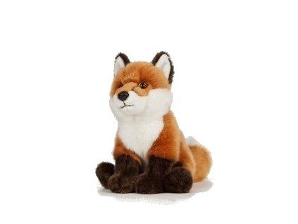 plyšák liška sedící střední