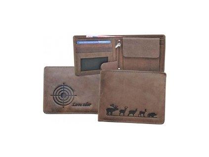 Kožená peněženka šířka Lovu zdar