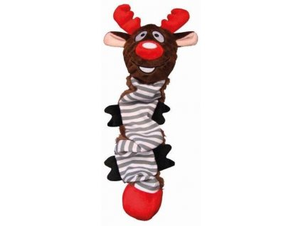 Hračka pro psa vánoční sob natahovací 38cm