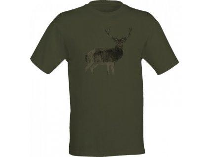 Triko zelené jelen