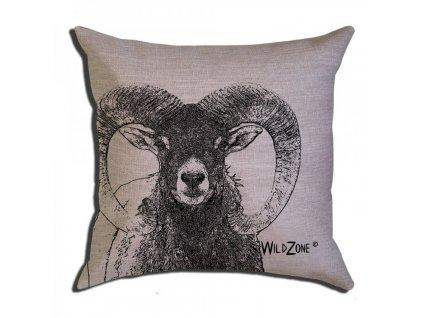 Wildzone polštář hnědý muflon