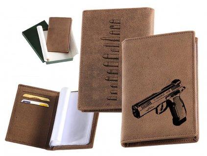 Kožené pouzdro na doklady pistole CZ75