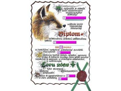 Diplom pro střelecké soutěže liška A3